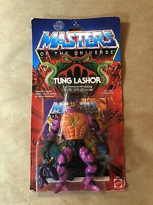 $255 • Buy Vintage 1986 TUNG LASHOR He Man Masters Of The Universe Figure Moc Mattel New