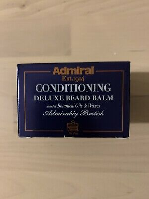 Deluxe Conditioning Beard Balm With Oils & Wax Admiral Male Grooming Kit 50ml • 11£