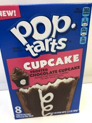 Kellogg's Pop Tarts Frosted Chocolate Cupcake Toaster Pastries BBE 26th August • 7.99£