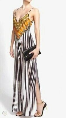 AU180 • Buy Camilla Franks Animalia Zebra Print V Neck Maxi Dress