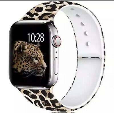 $ CDN20.07 • Buy Leopard Apple Watch Silicone Band 38/40mm Size Small Apple Watch Series 3, 2 1