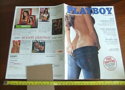 $10 • Buy 2004 Playboy FALL PREVIEW CATALOG Lingerie Thong Magazine Supplement Booklet-VF♡