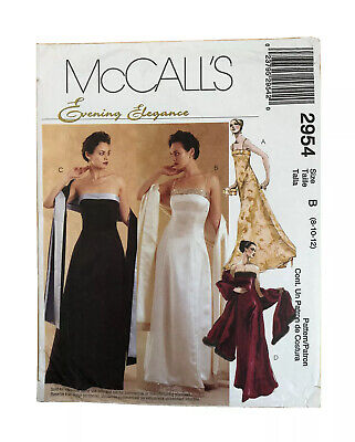 £2.99 • Buy Ladies McCall's 2954 Dressmaking Pattern, Size: 8/10/12 - Used, Cut Largest Size