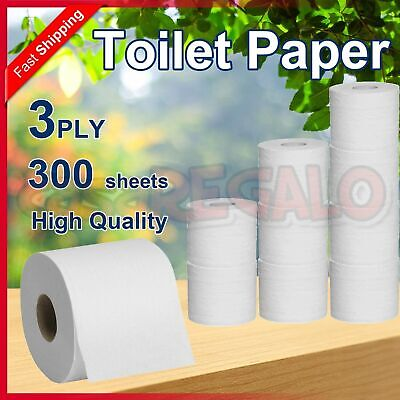 AU48.95 • Buy 60 Rolls Toilet Paper Rolls Softness Sanitary 3 PLY 300 Sheets - Vinda Quality