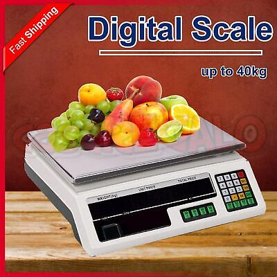 AU42.95 • Buy 40KG Digital Kitchen Scale Electronic Weighing Scales Shop Market Commercial LCD