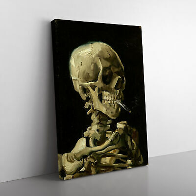 £19.95 • Buy Vincent Van Gogh Cigarette With Skull Framed Canvas Print Wall Art Picture Large