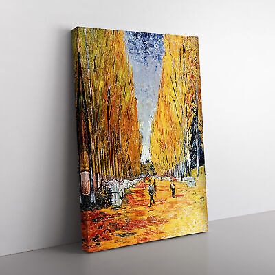 Vincent Van Gogh Tree Lined Path Framed Canvas Print Wall Art Picture Large • 24.95£