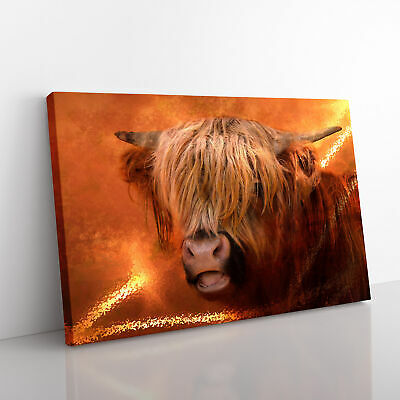£24.95 • Buy Highland Cow Framed Canvas Print Wall Art Picture Large Home Decor