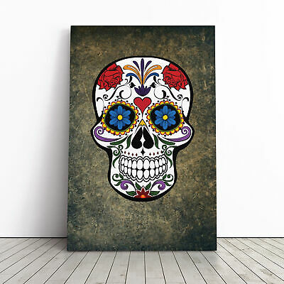 £19.95 • Buy Sugar Skull Tattoo (6) Framed Canvas Print Wall Art Picture Large Home Decor