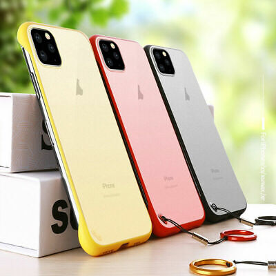 AU11.39 • Buy For IPhone XS Max 8 7 Thin Frameless Acrylic Matte Shockproof Case Cover W/ Ring