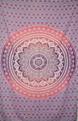 Indian Tapestry Wall Hanging Hippie Bedspread Mandala Hand Printed UK • 10£