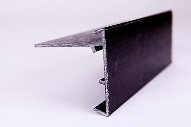 2.5 Mtr.Glasstrim Type 3 Black GRP Roof Edge Trim   Pack Of 10 • 169£