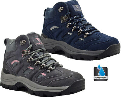 £32.95 • Buy Womens Leather Waterproof Hiking Walking Ankle Boots Comfy Lightweight Shoes Sz