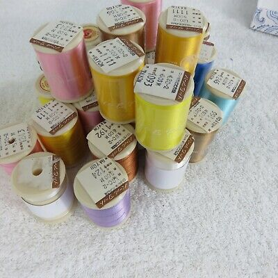 $89.95 • Buy Lot Of 27 Spools Pearl Yacht Brand RAYON Machine Embroidery Threads New Open VTG