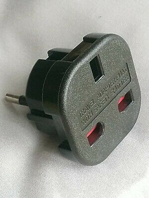 NEW Continental ADAPTOR PLUG Travel EURO 2 Pin To UK 3 Pin 240v CE MARKED • 2.39£