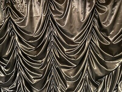 Black Satin Festoon Austrian Stage Drape Theatre Or Club 48inch X 48inch • 35£