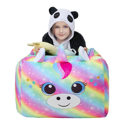 Unicorn Animal Storage Bean Bag Chairs Extra Large Cover Kids Toy Storage Bags • 17.56£
