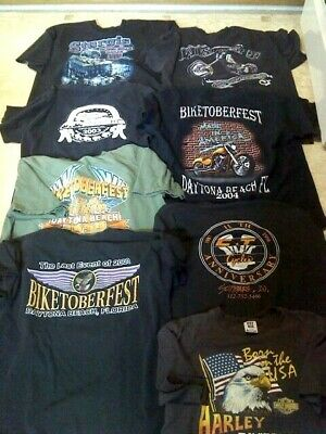 $ CDN40.73 • Buy Harley Davidson Biker T Shirts Dealership Vintage Bike Week XL Extra Large Lot