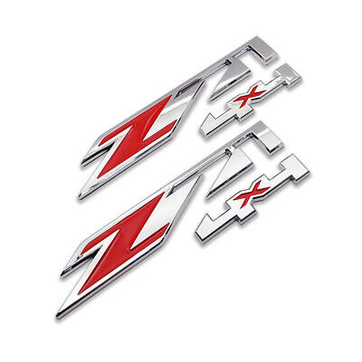 AU21.96 • Buy 2x Silver&Red Z71 4X4 Emblem Off-Road Badge 3D Side Sticker Decal For Chevy GMC