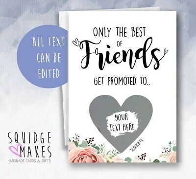 £3.70 • Buy Only The Best Friends Bridesmaid Reveal Maid Of Honour Scratch Off Proposal Card