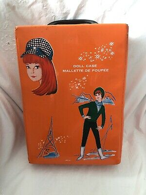 $ CDN24.99 • Buy Vintage Orange Patent Barbie Clone Knock Off Fashion Doll Case Canada
