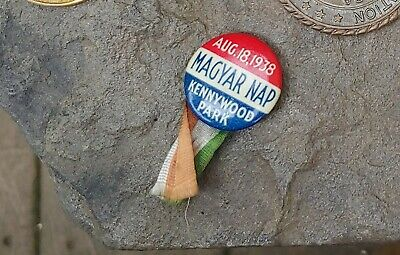$25 • Buy 1938 Magyar Nap Day At Kennywood Park (Pittsburgh Amusement Park) Pin, Hungarian