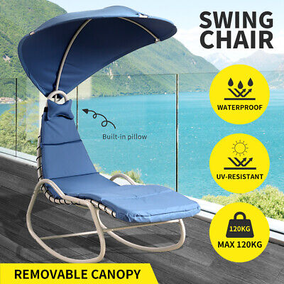 AU159.99 • Buy Outdoor Furniture Sun Lounge Swing Chair Lounger Canopy Bed Sofa Garden Patio