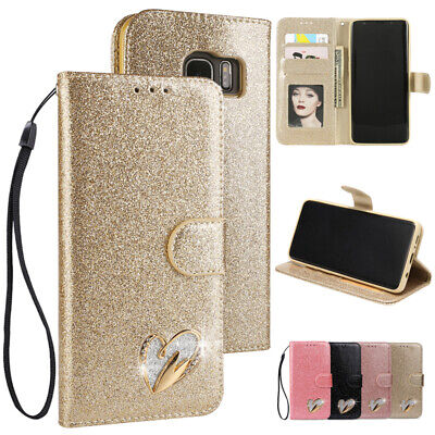 $ CDN8.03 • Buy Glitter Leather Wallet Case Card Flip Cover For Samsung Galaxy S20 S10e S9 S8+