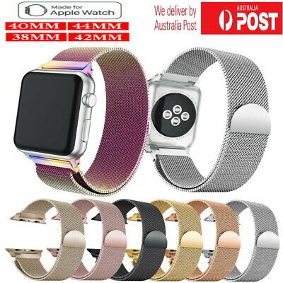 AU12.49 • Buy Milanese Mesh Magnetic Clasp Stainless Steel Band For Apple Watch Series 5 4 3 2