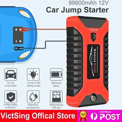 AU79.99 • Buy 99800mAh 12V Car Jump Starter Pack Booster Charger Battery Power Bank Compass AU