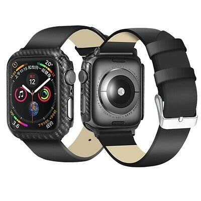 $ CDN10.24 • Buy Carbon Fiber Watch Case Frame Bumper Protector Cover For Apple Watch Series 5 4