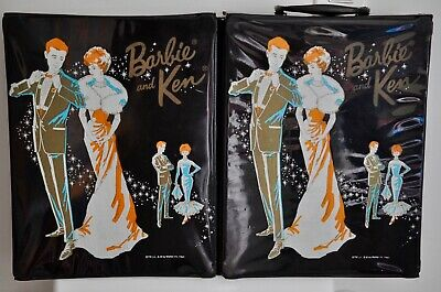 $ CDN35 • Buy Vintage BARBIE & KEN Double 2-sided Graphics TRUNK 1963 Canadian Excl. RARE HTF