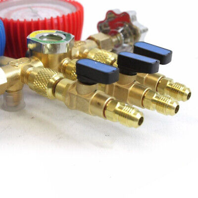 $ CDN10.61 • Buy R134a R410a Shut Ball Valves For A/C Charging Hoses HVAC 1/4  AC Refrigerant S