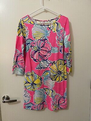 $38 • Buy Lilly Pulitzer Kir Royal Pink Swept By The Tides Marlowe Dress Size Medium M