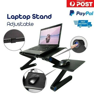 AU34.99 • Buy Portable Foldable Laptop Stand Desk Table Tray Adjustable Sofa Bed Mouse Pad AU