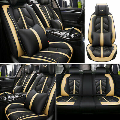 $109.64 • Buy Deluxe Car Seat Cover 5-Sit Cushion Front Rear Car Car & Truck Parts Accessories