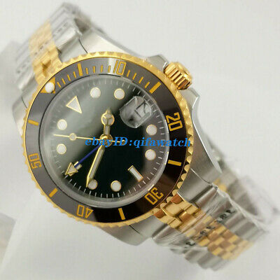 £61.50 • Buy 40mm No Logo Black Dial GMT DG3804 Automatic Mens Watch Sapphire Date Gift Watch