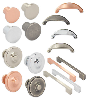 Furniture Pull Handles And Knobs Kitchen Cupboard Door Drawer Unit Cabinet Knobs • 2.49£