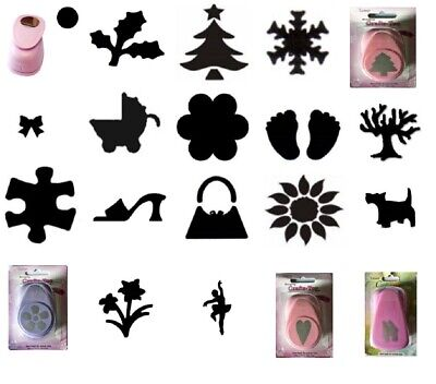 £6.99 • Buy Paper Punch 25mm 1  Inch Various Designs Circle Christmas Tree Holly Snowflake