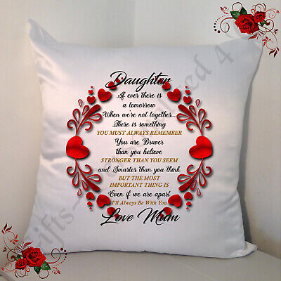 £14.99 • Buy Personalised White 18  Cushion - Daughter Quotes Love Mum - Style 1
