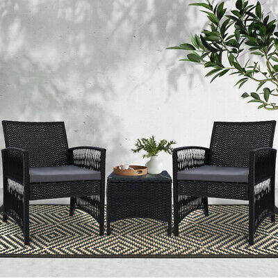 AU197.90 • Buy Gardeon Patio Furniture Outdoor Bistro Set Dining Chairs Setting 3 Piece Wicker
