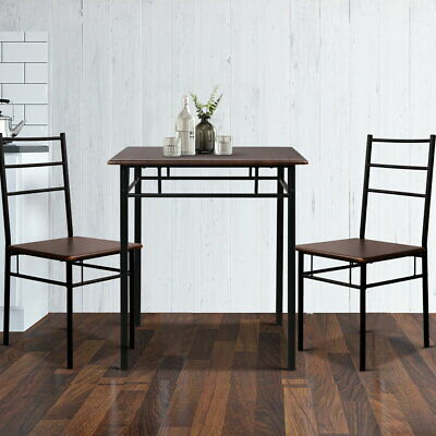 AU95.90 • Buy Artiss Dining Table And Chairs Set Kitchen Chair Restaurant Wooden Metal Black