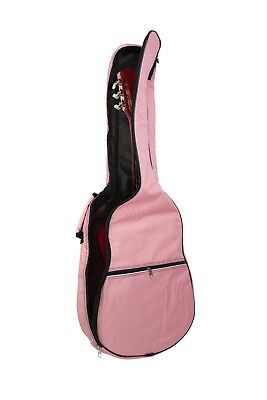 Light Pink Padded 39 Inch Acoustic Guitar Bag Case Fits 3/4 7/8 Size Childrens • 12.99£