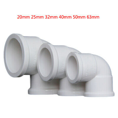 £2.09 • Buy PVC 20mm-63mm ID Thickening Water Supply Pipe Elbow Fittings Adapter Connector
