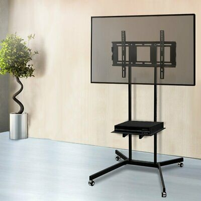AU87.90 • Buy Artiss Mobile TV Stand Mount Bracket 32 To 65 Inch Trolley Wheels Universal