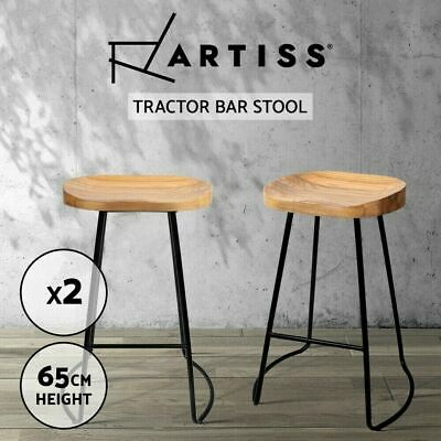 AU175.90 • Buy Artiss 2 X Vintage Tractor Bar Stools Retro Stool Wooden Industrial Chairs 75cm