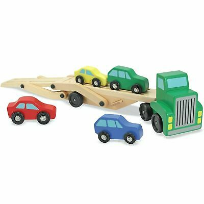 Melissa & Doug Wooden Transporter, Carrier Truck Toy Set With Cars/Vehicles, 3+ • 15.24£