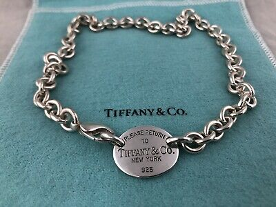 $148 • Buy Authentic Please Return To Tiffany & Co Sterling Silver Necklace With Packaging