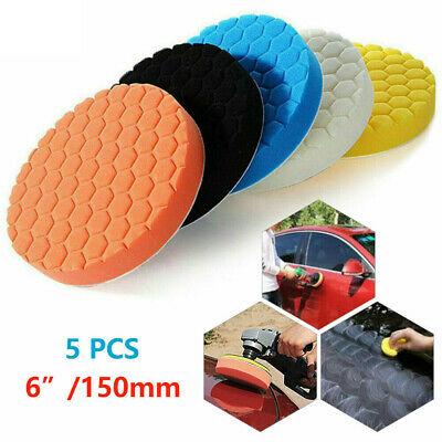 5pcs/Set 6  150mm Car Polisher Pad Buffer Waxing Buffing Polishing Sponge Pads • 8.54£