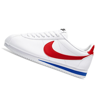 AU170.95 • Buy NIKE WOMENS Classic Cortez Leather - White, Red & Blue - 807471-103
